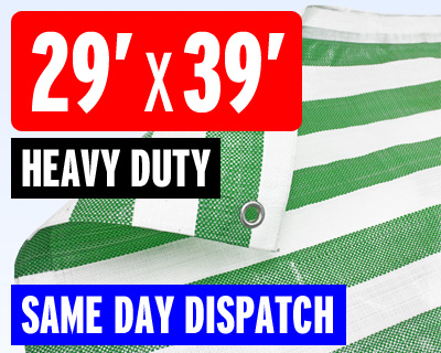 Green White Stripe Heavy Duty Tarpaulin by Bishop
