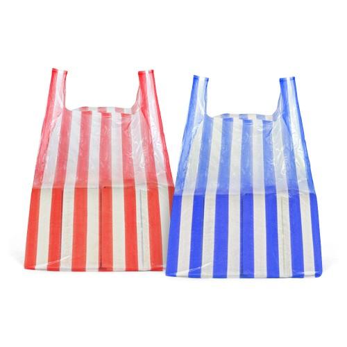Large Candy Stripe Carrier Bag