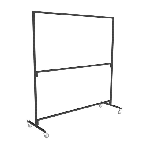 Ultra Heavy Duty Double Tier Clothes Rail with wheels