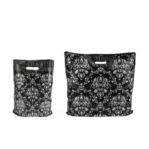 Damask Pattern Carrier Bags Low Density