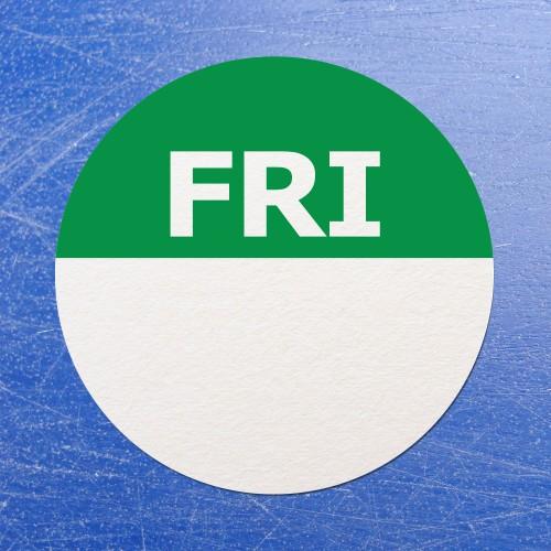 Circular Self Adhesive Week Day Dot Food Labels Friday