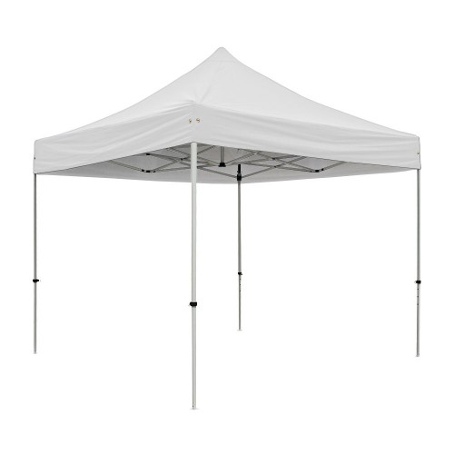 S30 Heavy Duty Steel Pop Up Gazebo 3.0m x 3.0m (10ft x 10ft) White Roof