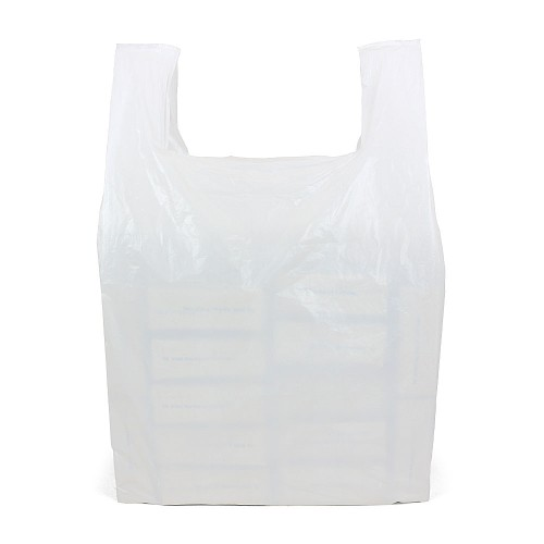Giant White Vest Carrier Bags