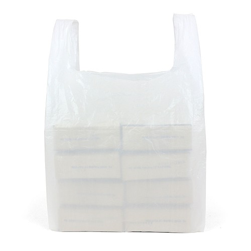 Large White Vest Carrier Bags