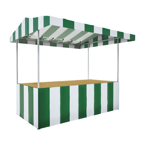 Bakewell Trader Elite Market Stall Kit Green White Side
