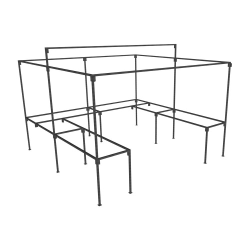 Walk In Market Stall with Counters frame only - - Walk In Market ...