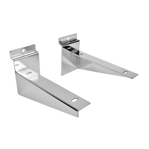 Slatwall Shelf Brackets 150mm (6in) Per Pair