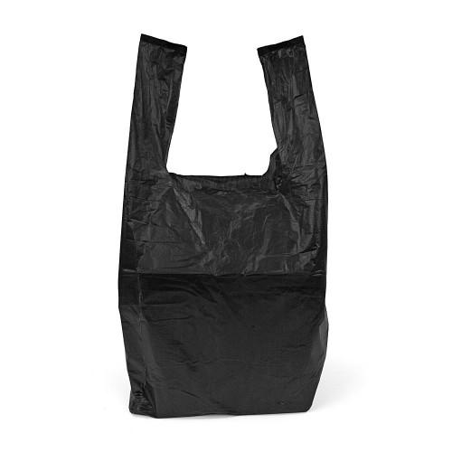 Small Black Vest Carrier Bag Front