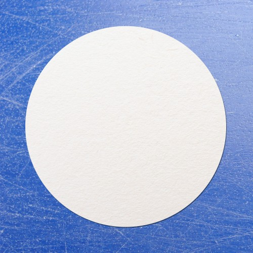 Circular Sticko Self Adhesive Labels White
