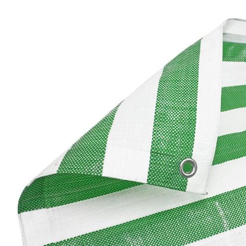 Green White Stripe Tarpaulin Heavy Duty
