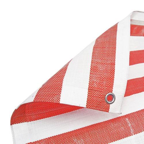 Red White Stripe Tarpaulin Heavy Duty