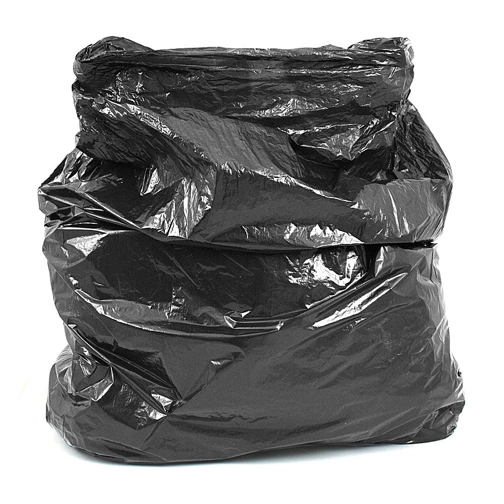 Strong Black Refuse Sack Bin Bags Boxed Per 200 Refuse