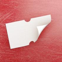 Blank Price Gun Label 21mm x 12mm Peelable White (per roll)