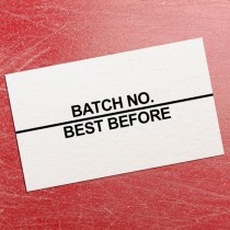 Batch No (Top Line) / Best Before Black Print Price Gun Label 26mm x 16mm (per roll)