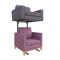 Single Tier Armchair Display Stand Side