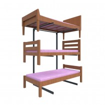 Double Tier Bed Display Stand Side