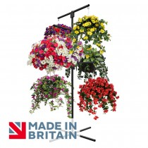Flower Hanging Basket Display Stand 6 Arm Made in Britain