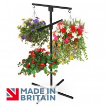 Flower Hanging Basket Display Stand 4 Arm Made in Britain