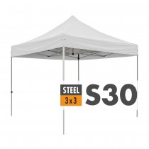 S30 Heavy Duty Steel Pop Up Gazebo 3.0m x 3.0m (10ft x 10ft) Logo