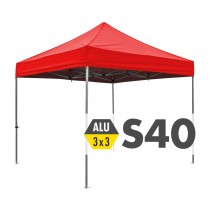 S40 Heavy Duty Aluminium Pop Up Gazebo 3.0m x 3.0m (10ft x 10ft) Logo