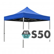 S50 Ultra Heavy Duty Aluminium Pop Up Gazebo Logo