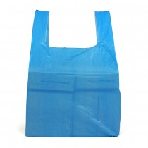 Medium Blue Recycled Vest Carrier Bags