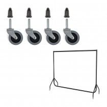 Replacement Wheels for Standard Duty Garment Rails (4 pack)