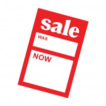 Sale Was/Now Pricing Card 150mm x 100mm (6in x 4in)