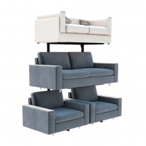 Double Tier Sofa Display Stand Side