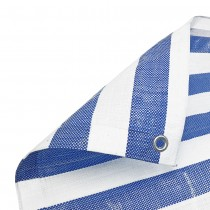 Blue White Stripe Tarpaulin Heavy Duty
