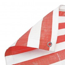 Red White Stripe Tarpaulin Heavy Duty