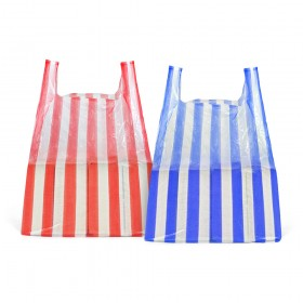 Medium Candy Stripe Vest Carrier Bags