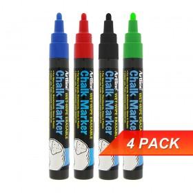 Artline EPW4 Chalk Marker Pen Bullet Nib Set 1