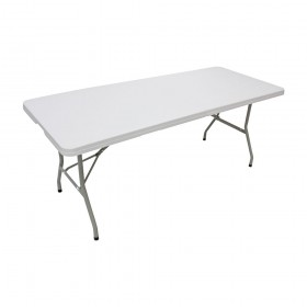 6ft x 2ft 6in Plastic Folding Trestle Table