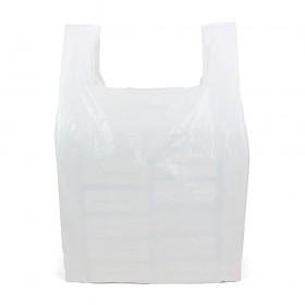 Giant White Vest Carrier Bags 50 per pack