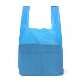 Large Blue Recycled Vest Carrier Bags 100 per pack