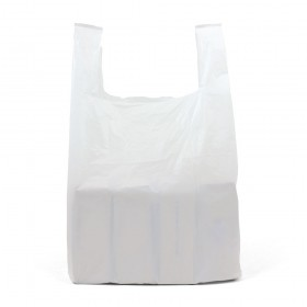 Medium White Vest Carrier Bags