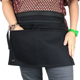 Bunse Black Denim 6 Pocket Money Belt