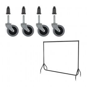 Replacement Heavy Duty Wheels for Standard Duty Clothes Rails (4 pack)