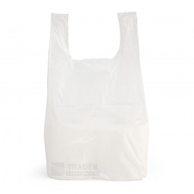 Small White Vest Carrier Bags 100 per pack
