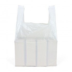 Small White Vest Carrier Bags