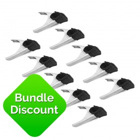 10 x Bishop 50mm Metal Spring Clamps with Webbed Nylon Spring Clamp Covers *SPECIAL OFFER*