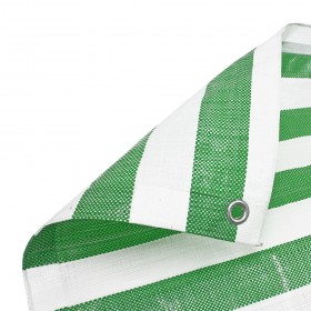 Green White Stripe Tarpaulin Heavy Duty