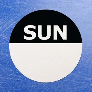 Circular Self Adhesive Week Day Dot Food Labels Sunday