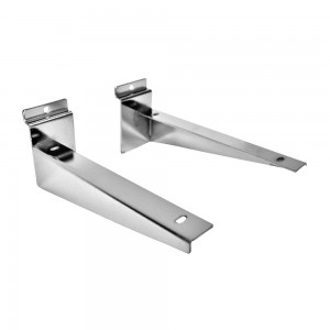 Slatwall Shelf Brackets 200mm (8in) Per Pair