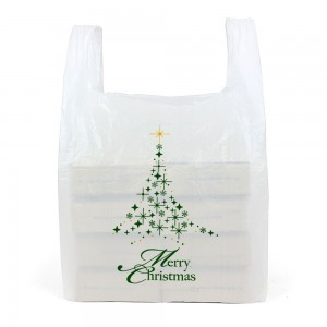 Large White Christmas Carrier Bags Front