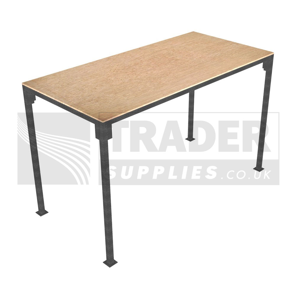 1x small portable table slot together trestle market stall Small steel desk