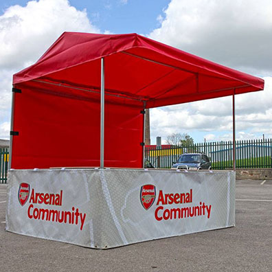 Branded Market Stall for Arsenal Football Club