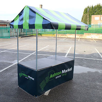 Custom Printed Market Stall for Ashton Market Stall