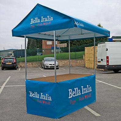 Custom Printed Market Stall for Bella Italia Restaurants
